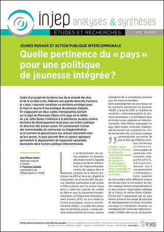 INJEP Analyses et Synthèses 2 (couverture)