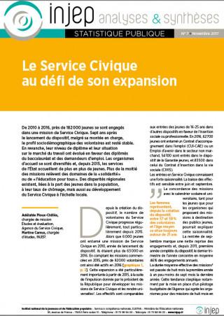 INJEP Analyses et Synthèses 7 (couverture)