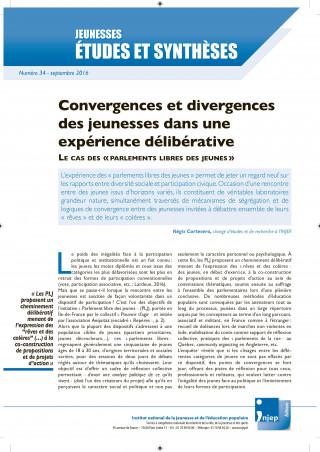 couverture Jeunesses : études et synthèses numéro 34
