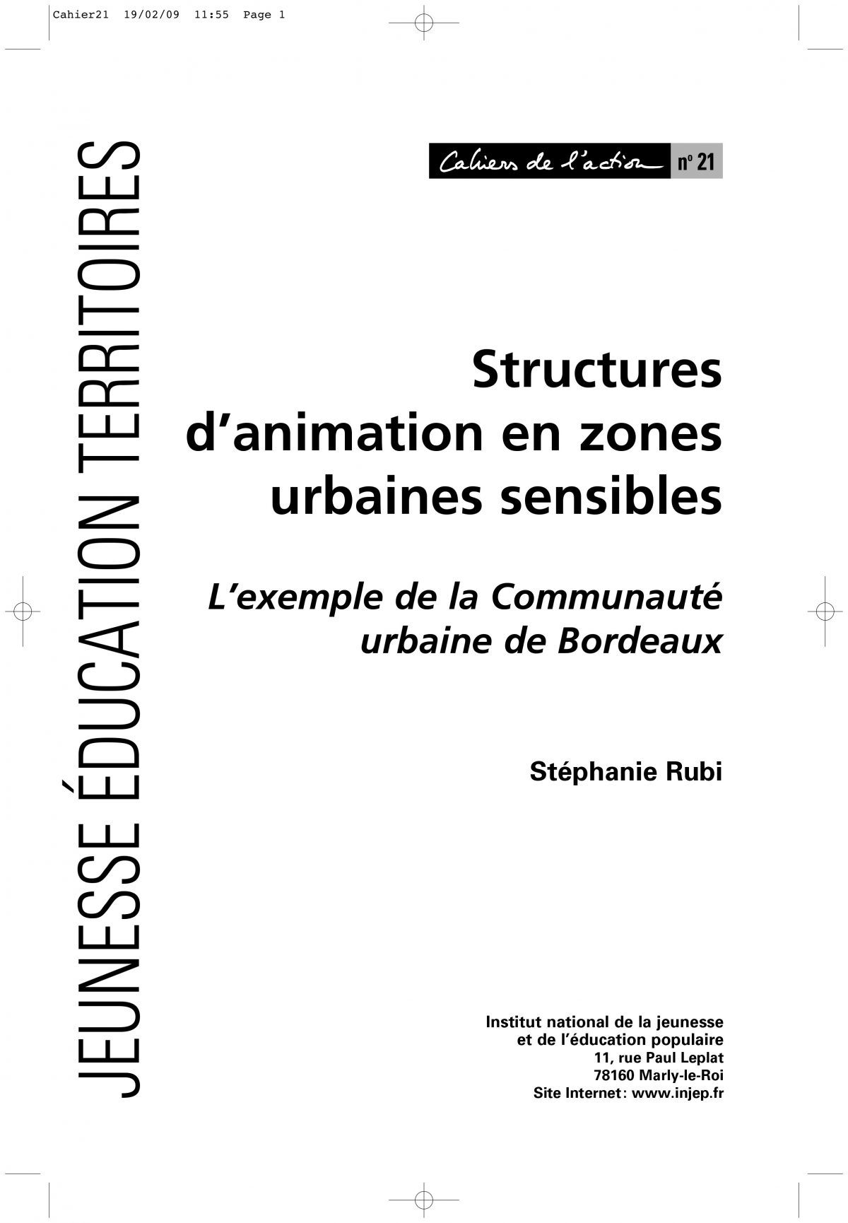 Structures d'animation en zones urbaines sensibles