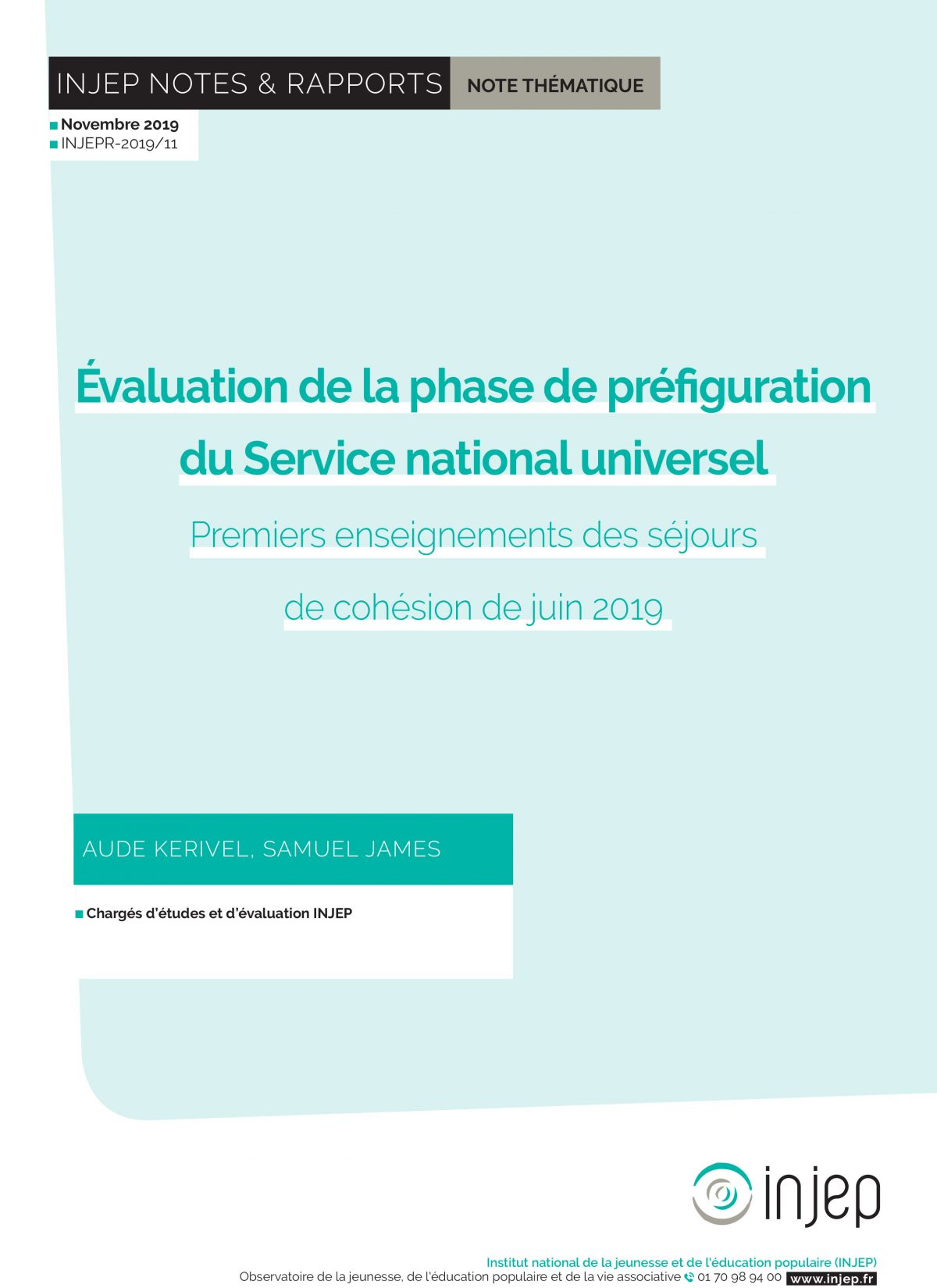 Évaluation de la phase de préfiguration du Service national universel