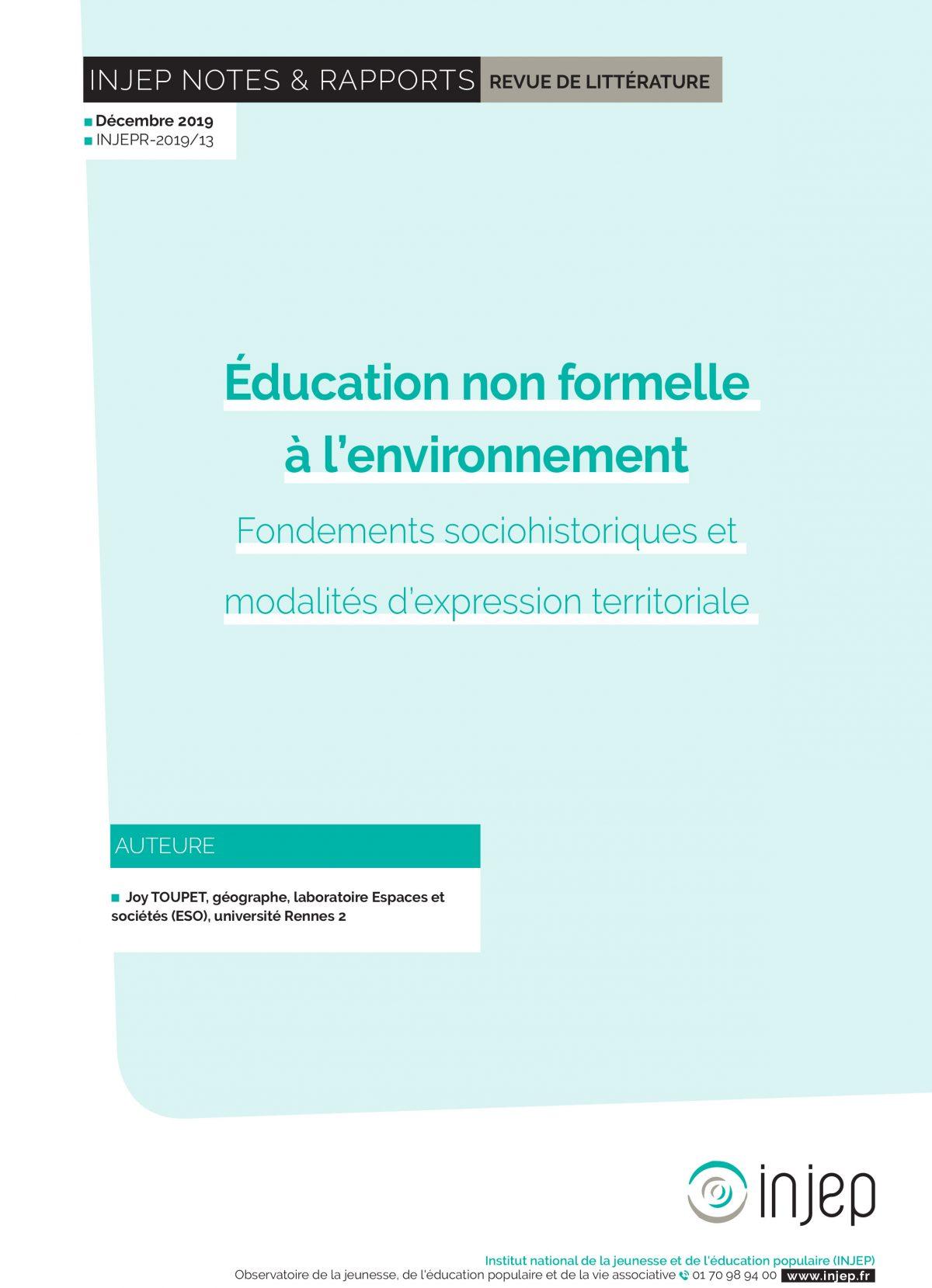 Éducation non formelle à l'environnement