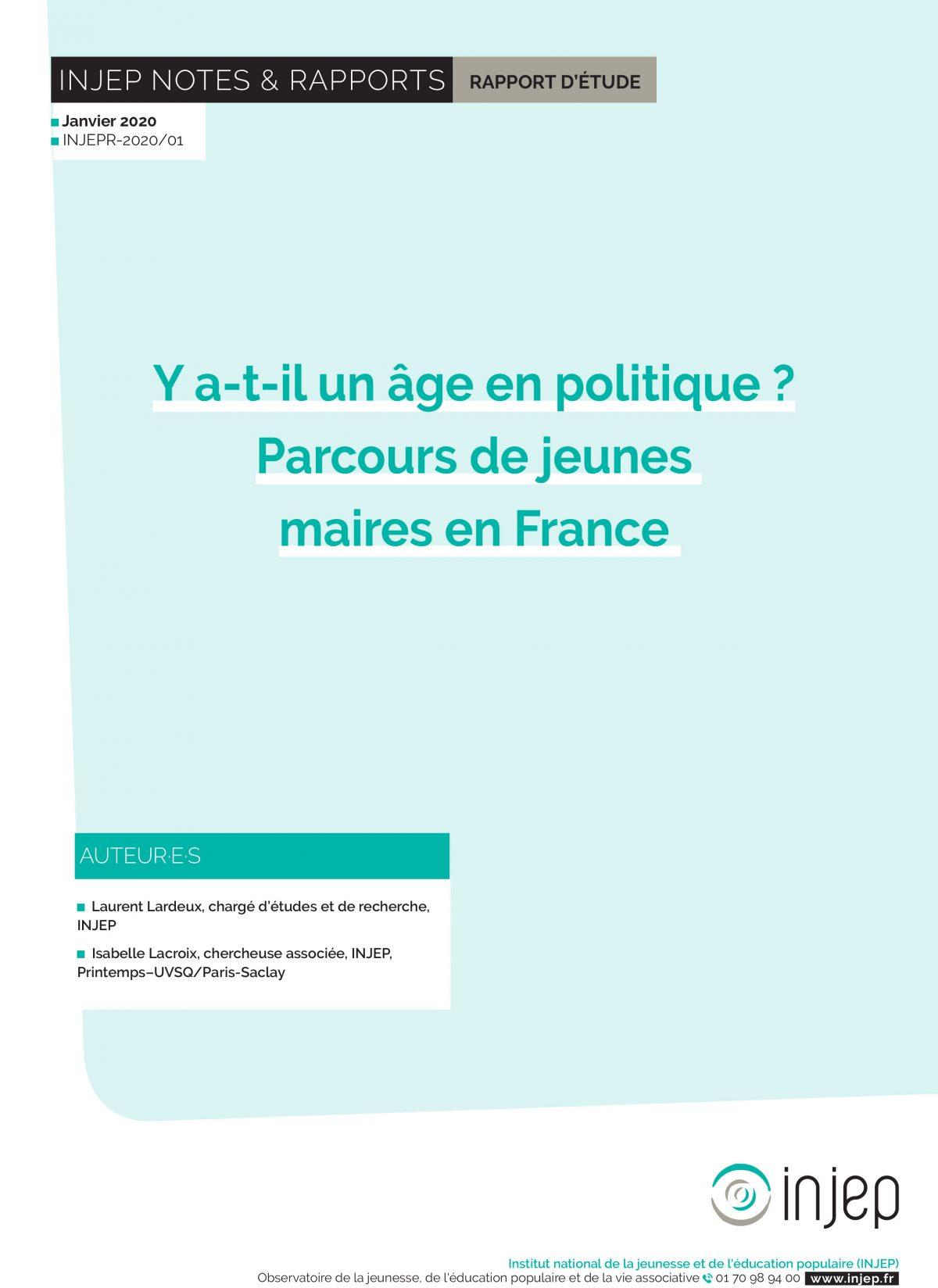 Y a-t-il un âge en politique ? Parcours de jeunes maires en France