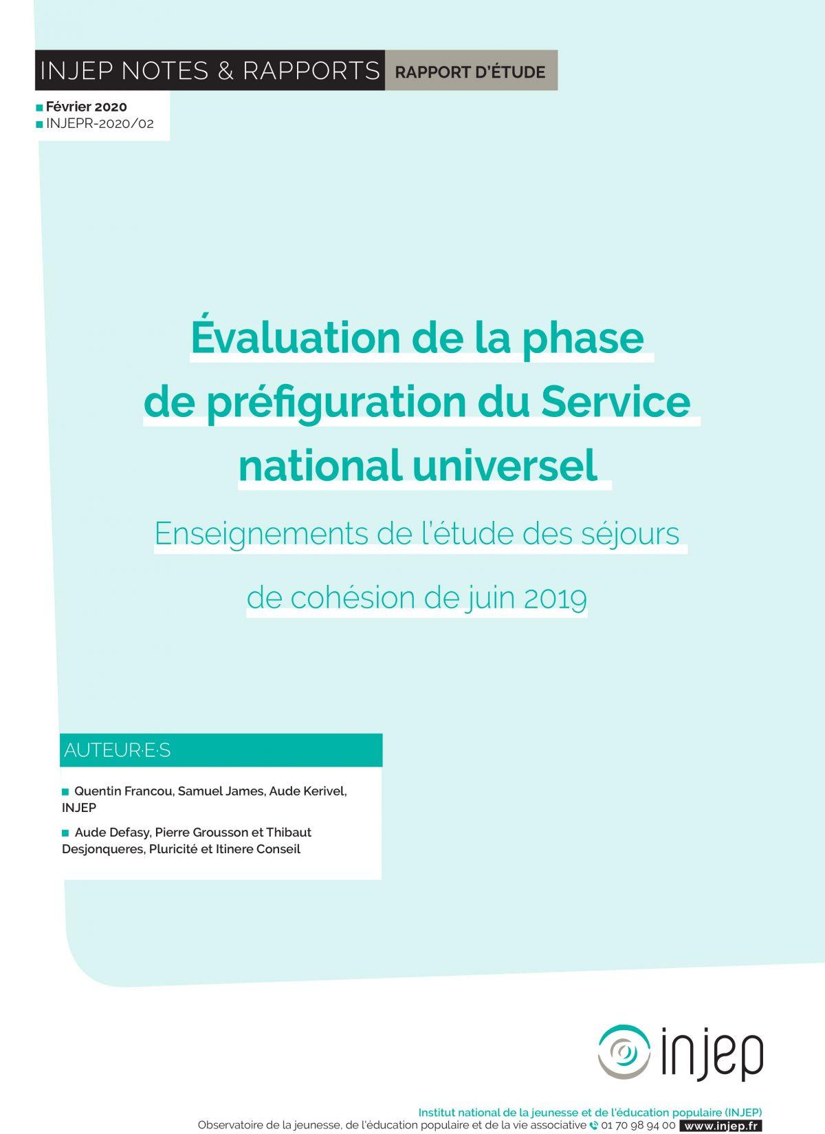 Évaluation de la phase de préfiguration du Service national universel