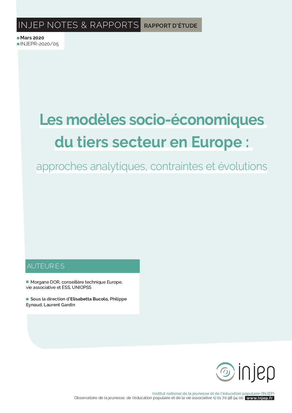 Les modèles socio-économiques du tiers secteur en Europe